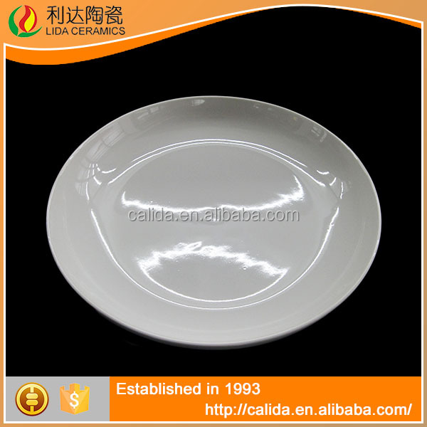 LD11111 Simple and elegant fine white ceramic modern crockery plate with low price