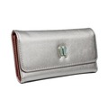 high quality pu leather 12slots card holder wine ladies purse purse with pattern