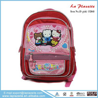 beautiful cute little girl hello kitty school bag for children