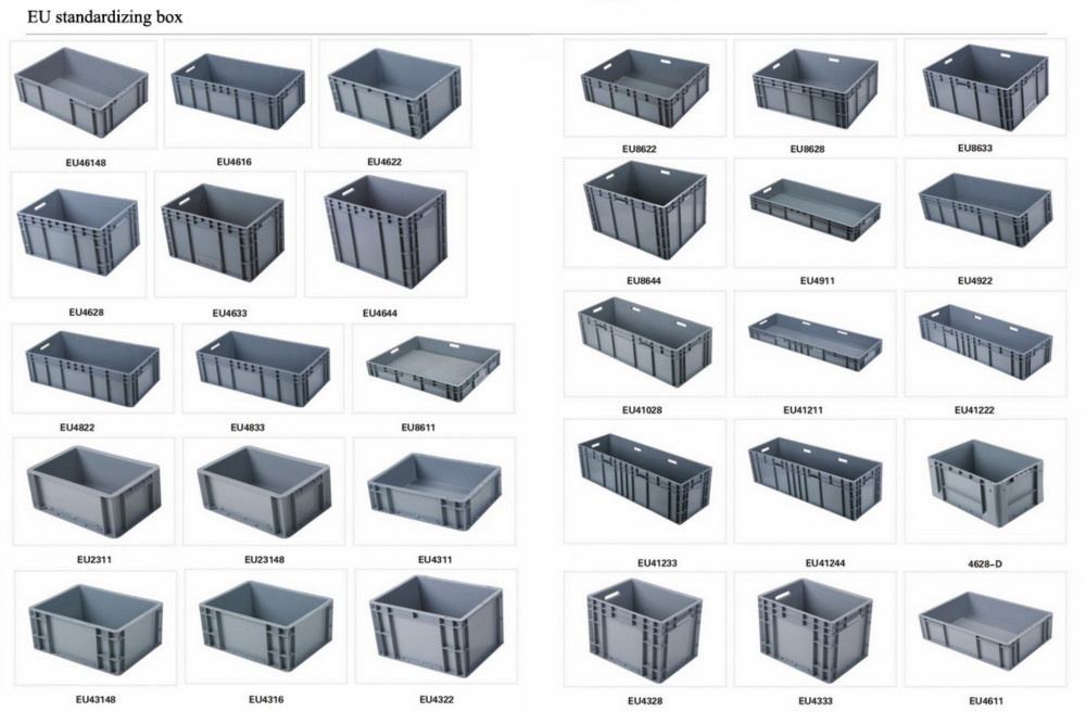 EU4322 Stacking plastic standard box 400*300*230 mm turnover logistics box for stocking