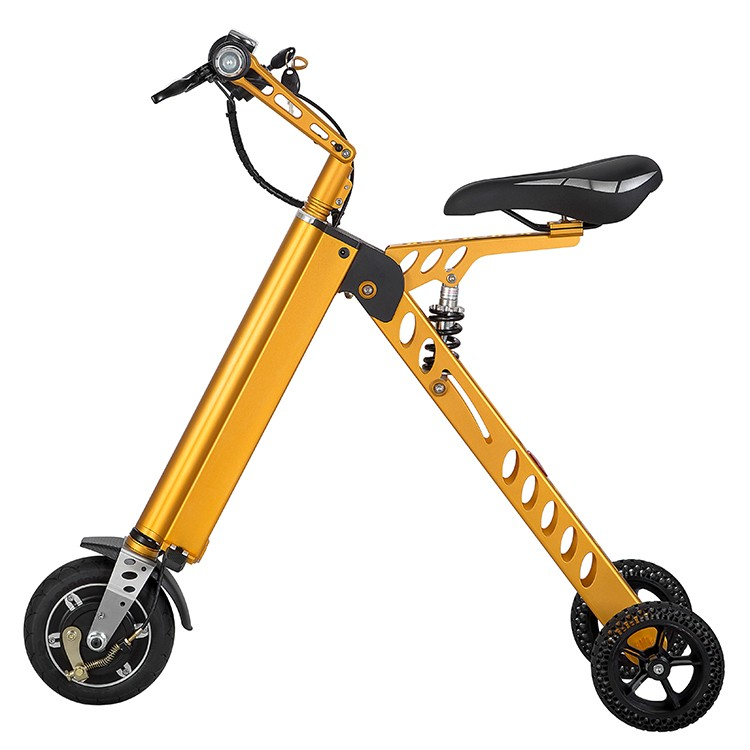 2016 Top selling 11kg portable tricycle mobility electric scooter with handles