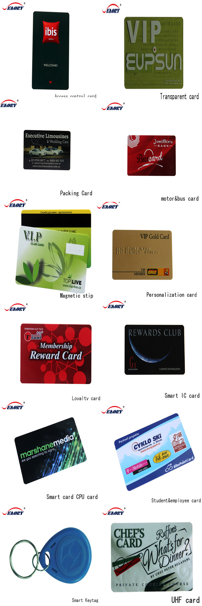 Low cost Factory Proximity 125khz card with chip plastic rfid card smart memory card