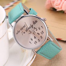 Wholesale Cheap Quartz Custom Logo Stainless Steel Ring Shape Genuine Leather Watch