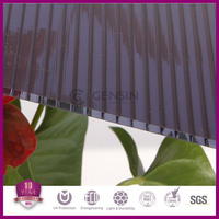UV Protector Polycarbonate Hollow Sheets In 4/6mm For Greenhouse Roofing 100% Virgin Raw Material Grade A With 10 Years Warranty