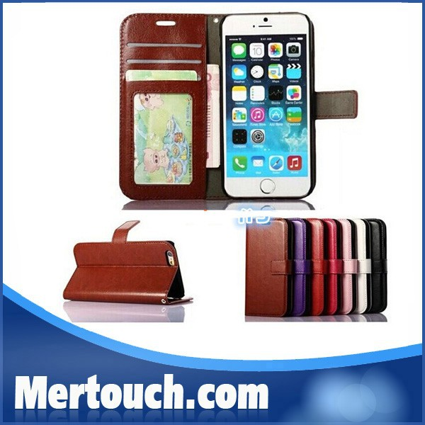 Wallet PU Leather Case Cover Pouch with Card Slot Photo Frame For iPhone 5S 6 plus For iPhone 7 leather phone case