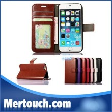 Wallet PU Leather Case Cover Pouch with Card Slot Photo Frame For iPhone 5S 6 plus For iPhone 7 leather wallet case