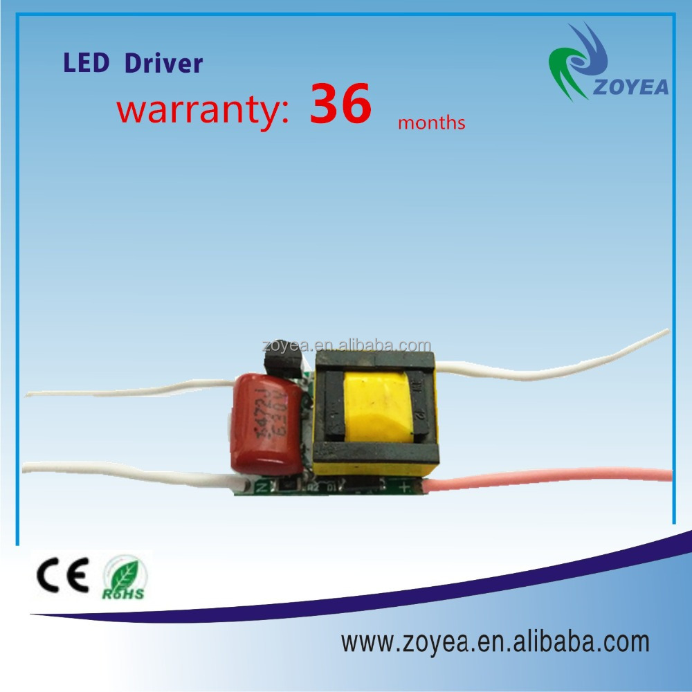 CE RoHs approved triac dimmable led driver 5w PCB