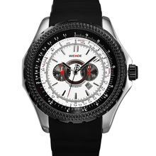 WEIDE 3303-2C Luxury PU rubber top 10 brand men watches mechanical