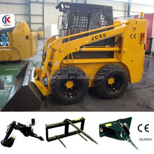 Skid steer loader, bobcat with 60hp Diesel engine, loading capacity is 850kg