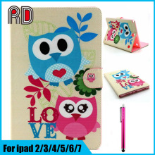 Cheapest Book Slim Painted Wallet Card Holder Stand Flip Leather Table Case for Ipad Mini 4