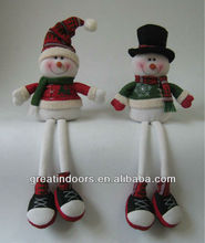 Christmas sitting pair snowman decoration