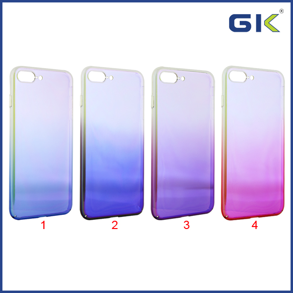 [GGIT] Ultra-thin Gradient Anti Blue Electroplating PC Phone Case For IPhone 7 Plus Back Cover