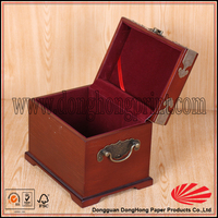 Good quality vintage wooden rice box
