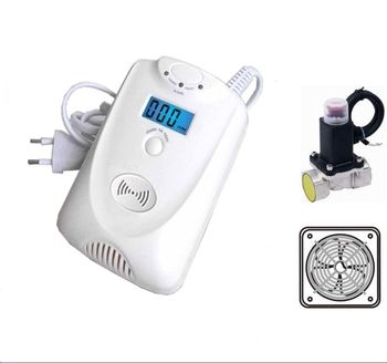 new function carbon monoxide detector with solenoid valve and exhaust fan 2 in 1