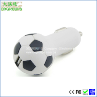Football Shape 5V 2.1A Adapter Charger For Cell Phone Tablet Football USB Car Adapter