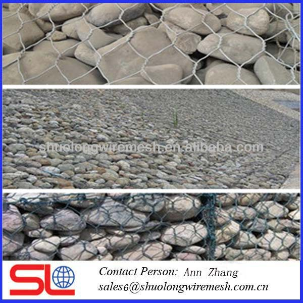 galvanized/pvc coated hexagonal wire netting /stone gabion mesh
