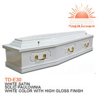 TD-E30 Funeral supplies wholesale cheap wood coffin dimension