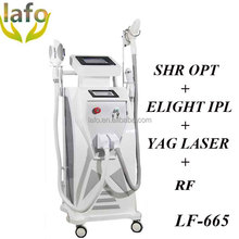 LF-665 4 IN 1 shr opt ipl rf elight nd yag laser / shr opt ipl rf hair and tattoo removal beauty machine