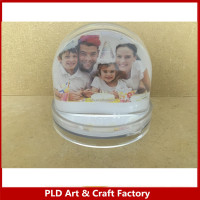 Snow globe photo frame liquid dome photo frame