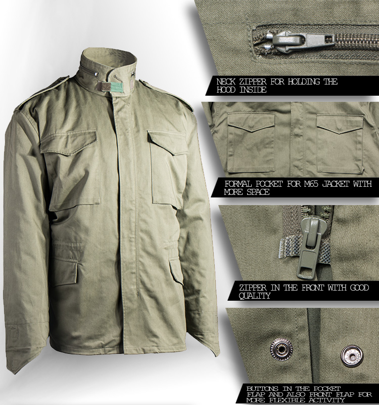 Industry Supplier Men's t/c Twill Olive Green Military Jacket