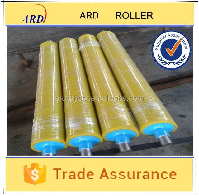 NBR or PU rubber laminator roller with many size can customized