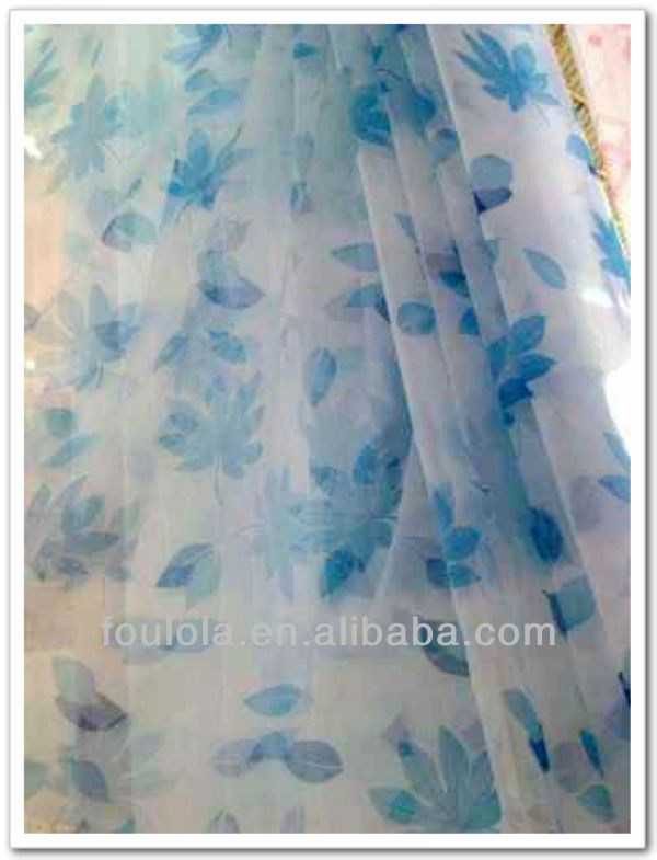 2013 Elegant Fashion Design Chiffon Gauze Curtain Printed Covering Window Curtain Net