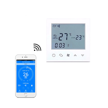Wifi White Backlight Touch Screen Central Air Conditioning LCD Room Thermostat