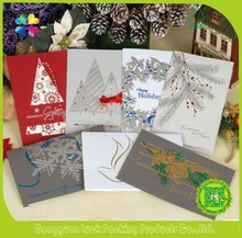 Wholesale Customized Exquisite fancy Art Paper Printed Logo Christmas Greeting Card Gift card Party Invitation card