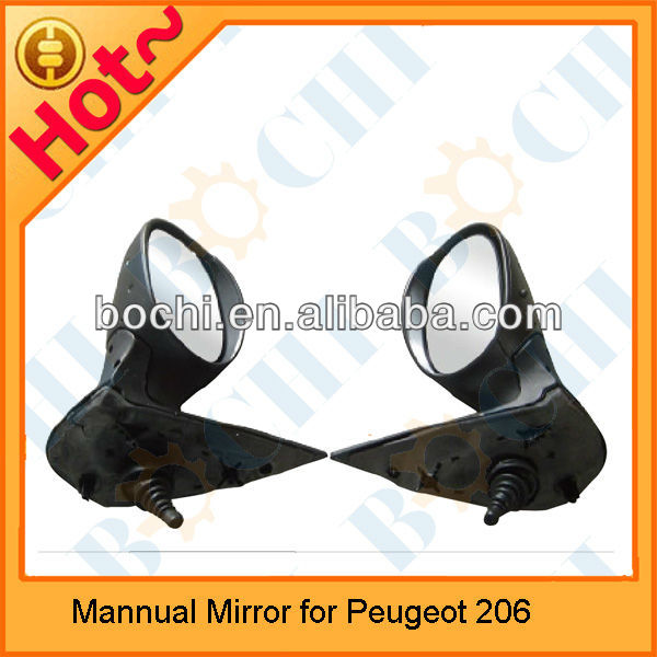 Mannual Auto Car side mirror review mirror for Peugeot 206