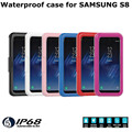 Durable underwater protective waterproof case cover for Samsung Galaxy s8