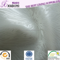 elastic woven satin Shaoxing Manufacturer Polyester High Quality Satin Lining Fabric for garment