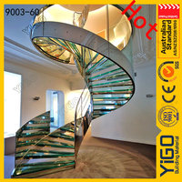 used metal curved stairs / round staircase foundation for stairs