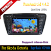 8 inch Car dvd android quad core built in GPS wifi support 3G 4G for Skoda Octavia 2014 / A7 Car dvd player