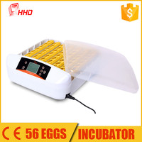 YZ-56A CE approved mini full automatic bird/poultry/ostrich /chicken egg incubator hatching machine