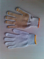 pvc diotted cotton glove/gloves for handicap