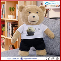 OEM cheap bear teddy bear clothing sublimation teddy bear t shirt