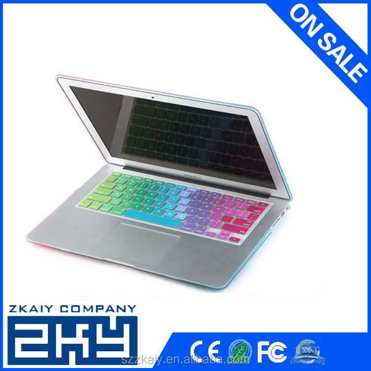 "2015 thirteen gradient colour laptop keyboard skins for mac pro 13"",15""17"""