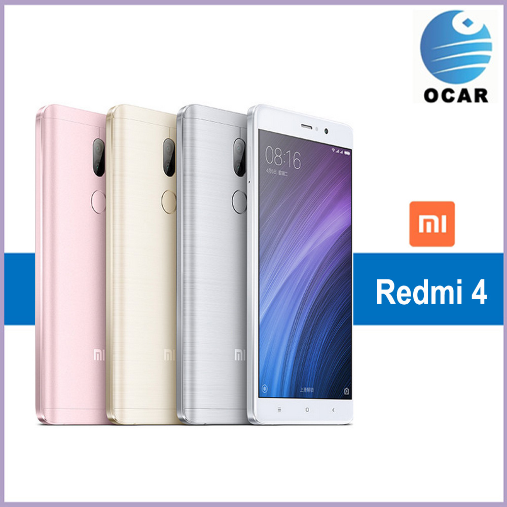 "Original Xiaomi Redmi 4 Mobile Phone Snapdragon 430 Octa Core CPU 5.0"" 1280x720 FHD 13MP Camera 2GB RAM 16GB ROM 4100mah"