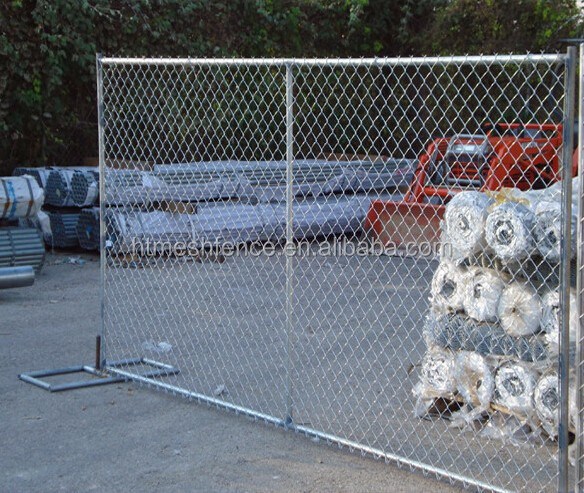 Easy Install Chain Link Mesh Used Temporary Fence For USA