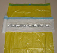 Plastic Drawstring String Garbage bag on roll