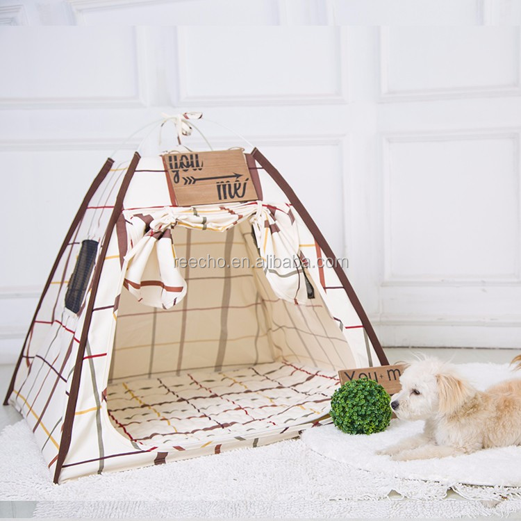 Canvas Fabric Nature Printing Diy Dog Cat House Indoor