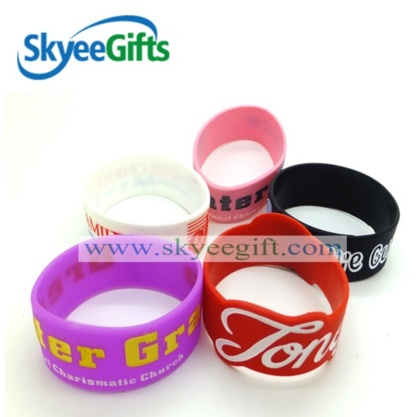 High quality Alibaba Express 1 inch silicone wristband, Promotional cheap silicone wristband