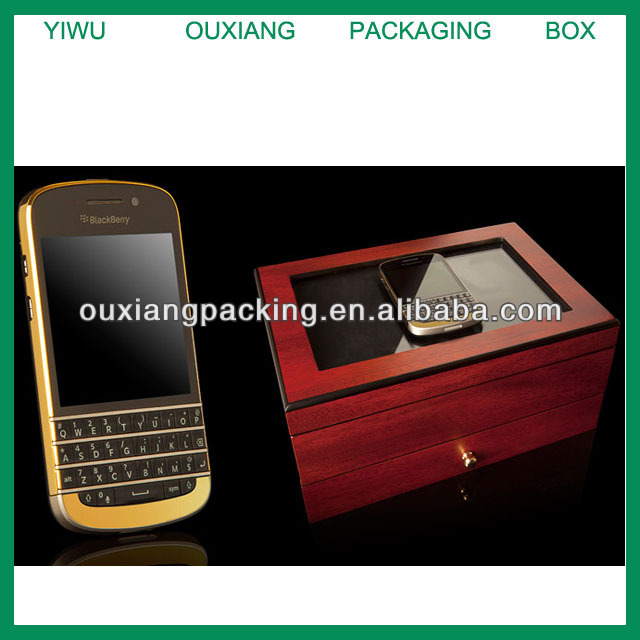 Top grade luxury piano lacquer finish wooden BlackBerry box with accessoris
