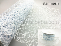 100% polyester material decorative wire edge Mesh Ribbon