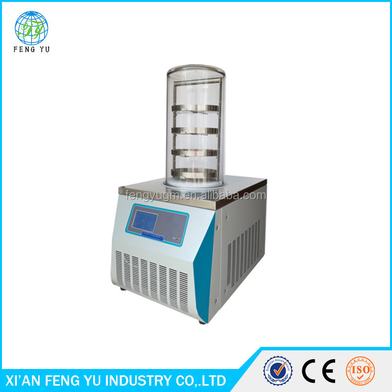 FYJ 10A home food vacuum freeze dryer with LCD display for vegetable and fruit drying equipment