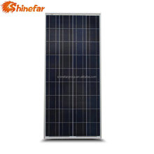 Cell effciency 17.64% bottom price 150w smartflower solar panel factory price