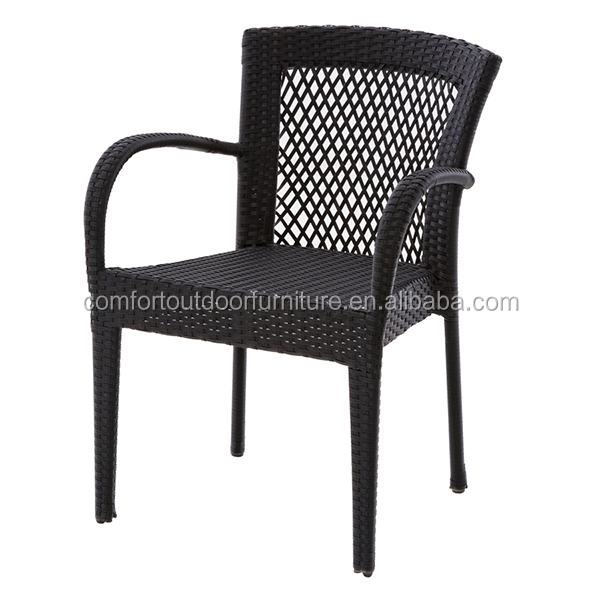 Patio Synthetic Rattan Dining Chair with Modern Style Weave