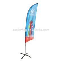 Cheap custom design real estate feather swooper banner dealership flag