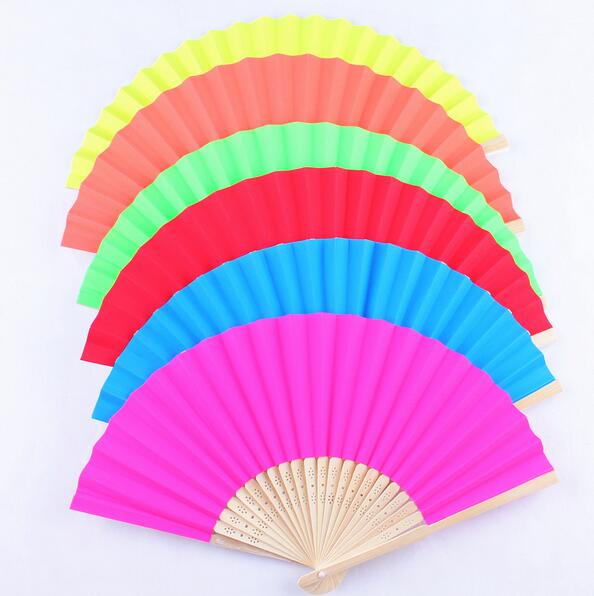 Red Party dance paper fans with good price in 2017