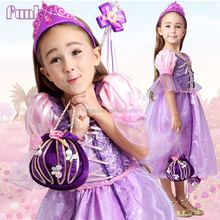 2016 wholesale purple rapunzel princess halloween costumes fancy dress in china